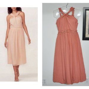 LC Lauren Conrad Twist Halter Dress Size Small